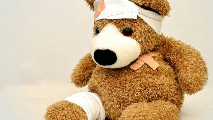 Teddy bear product liability personal injury